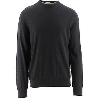 Z Zegna Grey Crew Neck Knitted Sweatshirt