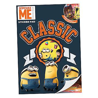 Disney Despicable Me Sticker Pad Childrens Activity Stickers Stocking Filler Gift Kids