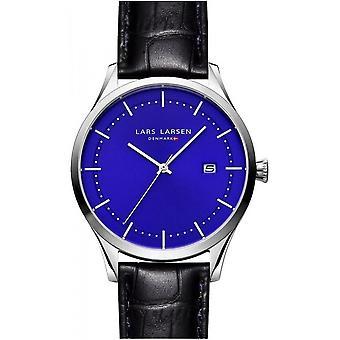 LLarsen (Lars Larsen Black Genuine Leather) 119SDBL Men's Watch