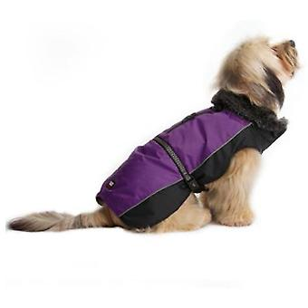 Dog apparel dog aspen jackets purple / black 8''