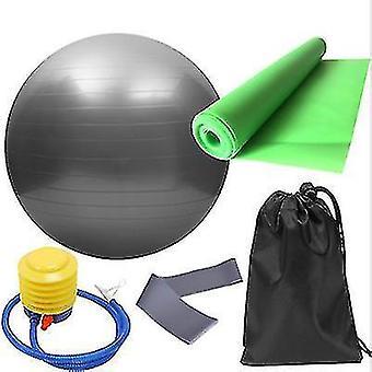 תרגיל כדורים 5pcs / סט אימון כושר כדור יוגה פס אלסטי כסף