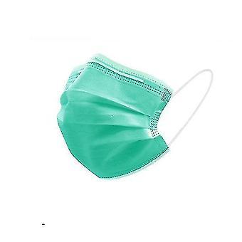 Dust masks 3-layer non woven face masks  anti-dust  disposable 50pcs green
