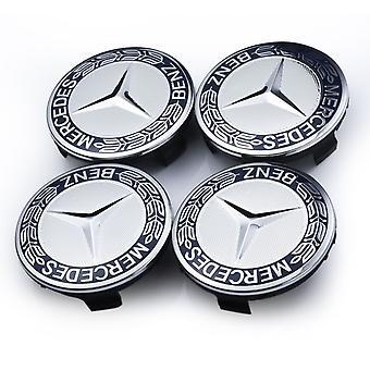 Mercedes 4-pack Alloy Wheel Center Hub Caps Maat 75mm Benz Donkerblauw