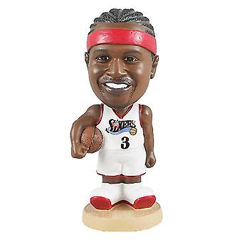 Venalisa Allen Iverson Figurine d'action Statue Bobblehead Basketball Doll Décoration