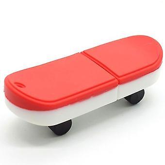 Aionyaaa 64gb Usb 2.0 Usb Memory Stick Flash Memory Stick Data Storage Skateboard