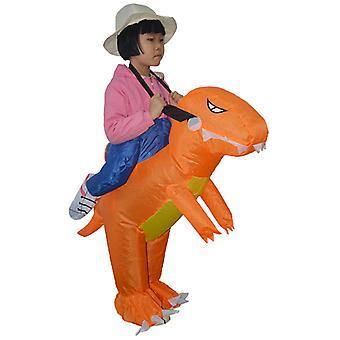 Toddler (60-90cm) In Orange Yutube Same Dinosaur Inflatable Costume Halloween Costume