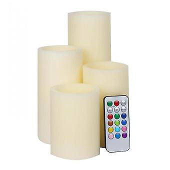 Caraele Flameless Led Candle Set Of 4 With Remote Control, Halloween