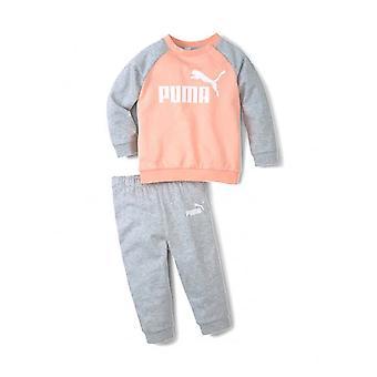 פומה מיניקטס יסודות צוות ריצה ילדים ילדים ספורט טרנינג החליפה סט ורוד