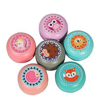 Puinen eläinkuvio Yoyo Ball Thread Control Syntymäpäiväkarnevaali Lasten palkinnot Lahja 6kpl