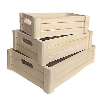 Holzkiste 3er Pack