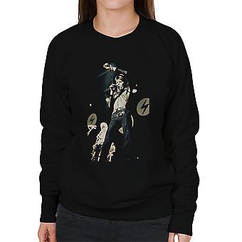 David Bowie Ziggy Stardust Lightening Hammersmith Odeon 1973 Women's Sweatshirt