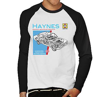 Haynes Owners Workshop Manual 0171 Ford Escort 1300 Men's Baseball Long Sleeved T-Shirt