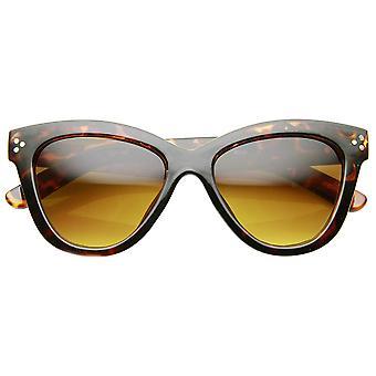 Womens Fashion Oversized ovalen Fett Rim Schmetterling Cat Eye Sonnenbrille
