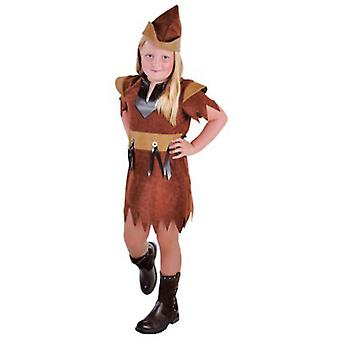 Children's costumes  Robin of the forest girl Brown