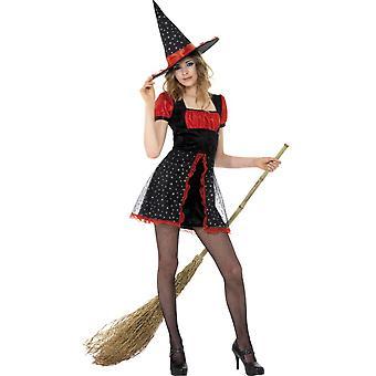 Children's costumes  Short halloween teen star witch costume