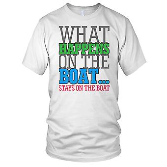What happenss On The Boat Stays On The Boat Ladies T Shirt