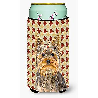 La caduta lascia Yorkie / Yorkshire Terrier Tall Boy Beverage isolante Hugger