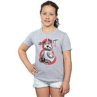 Star Wars Girls den letzten Jedi BB-8 Wurf mit ihr T-Shirt
