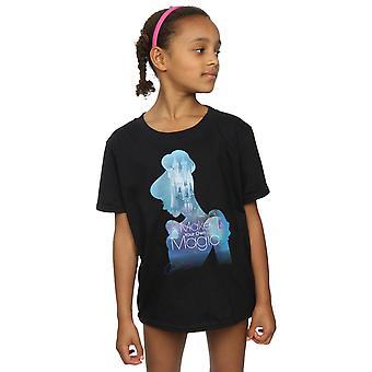 Disney Princess Girls Cinderella Filled Silhouette T-Shirt