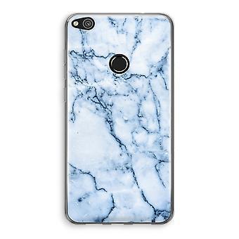 Huawei Ascend P8 Lite (2017) Transparant fall (Soft) - blå marmor