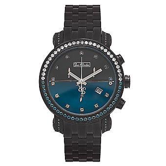 Joe Rodeo diamond men's watch - CLASSIC Black 4.3 ctw