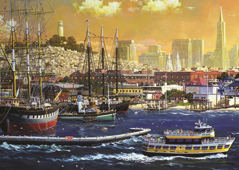 Jumbo San Francisco Bay, USA Premium Jigsaw Puzzle (1000 stykker)