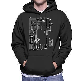 Nintendo Computer Schematic Men's Hooded Sweatshirt