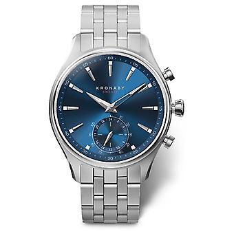 Kronaby 41mm SEKEL Blue Dial Stainless Steel Bracelet A1000-3119 S3119/1 Watch