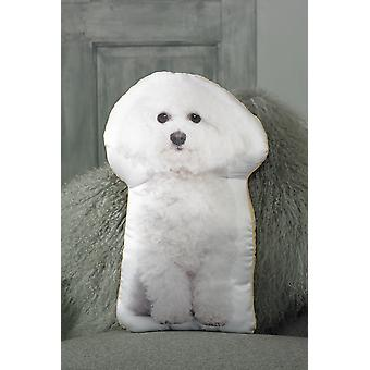 Adorable bichon frise shaped cushion