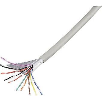 Conrad Komponenten 1226975 Telefonkabel J-Y(ST)Y 10 x 2 x 0,60 mm Grau 25 m