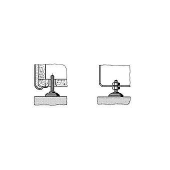 PB قفل 148 3010 699 11 القدم المسمار إصلاح الأسود (Ø x H) 38 ملم × 10 ملم 1 جهاز كمبيوتر (أجهزة الكمبيوتر)