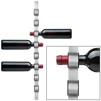 Wine bottle holder wall holder stainless steel matt with plastic