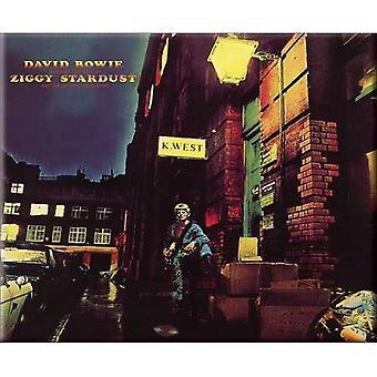 David Bowie Kühlschrank Magnet Ziggy Stardust neue offizielle 76 x 76 mm