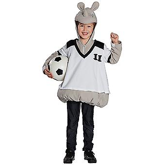 Pequena fantasia de Rino Nagarjuna na camisa para jovem rinoceronte de hipopótamo