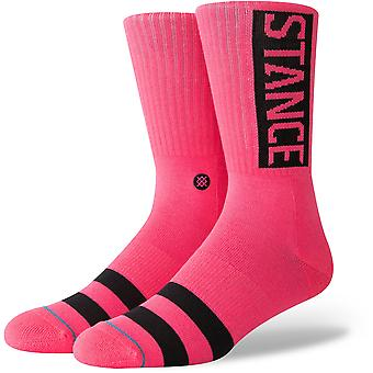 Stance Og Crew Calzini in Neon Pink