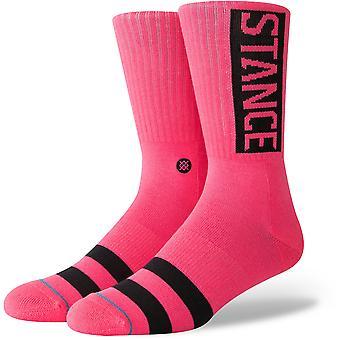 Hållning og Crew strumpor i neon Pink