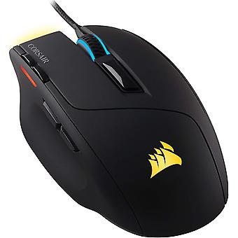 Corsair Sabre RGB Optical Gaming Mouse (10,000 DPI Optical Sensor, 8 Programmable Buttons, 4-Zone RGB Multicolour Lighting, Lightweight) - Black