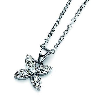 Oliver Weber Pendant Fleur Simple Rhodium Crystal