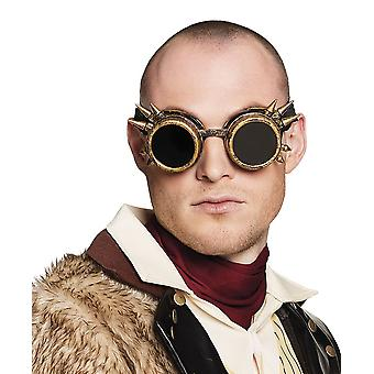 Adults Steampunk Glasses - Gold Fancy Dress Accessory