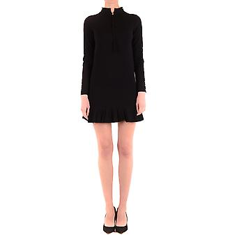 Twin-set Ezbc060163 Women's Black Viscose Dress
