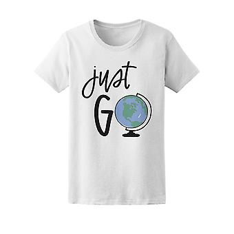 Just Go Travel The World Tee Men's -Image by Shutterstock