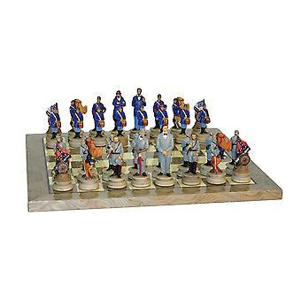 Borgerkrigen generaler Chess Set grå Briar bestyrelsen