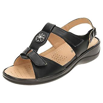 Cushion-Walk Pewter Comfort Open Toe Slingback Wedge Sandals