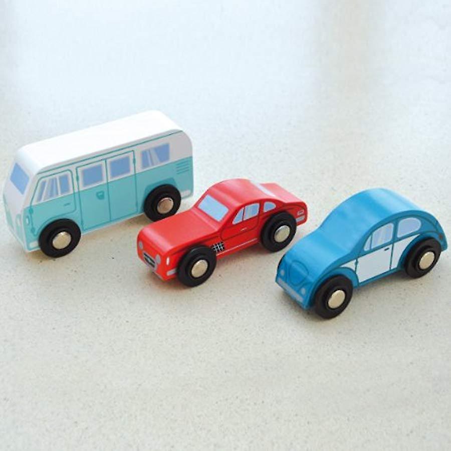 Indigo Jamm Classic Collection - Set Of 3 Iconic Wooden Vehicles