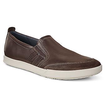 ECCO Herre Collin 2,0 BantiOvid slip på læder åndbare trænere sko