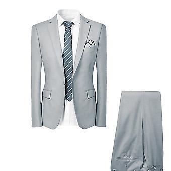 Allthemen mężczyźni ' s garnitury 2-częściowy garnitury Slim fit Business casual Blazer & Spodnie & kamizelka