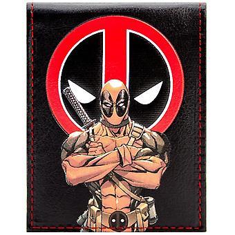 Marvel Deadpool animierte Charakter ID & Karte Bi-Fold Geldbörse