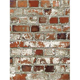 Loft Red Brick Wallpaper Muriva 102538
