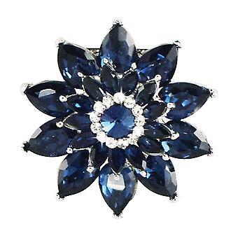 Wieczne kolekcji Sapphire zmierzchu Crystal Silver Tone szalik klip