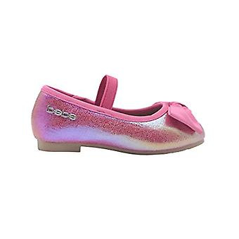 bebe Toddler Girls Ballet Flats Toddler Iridescent Mary Jane Ballerina Shoes With Bow